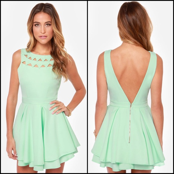 145a45086d Lulu s Dresses   Skirts - 👗 Lulu s Flirting With Danger Cutout Dress Mint